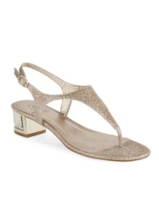 Adrianna Papell Cassidy Embellished Thong Sandals