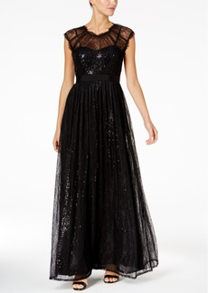 Adrianna Papell Chantilly Lace Gown