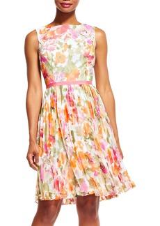 Adrianna Papell Chiffon Fit & Flare Dress