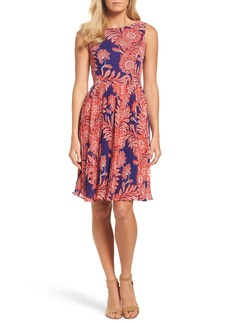 Adrianna Papell Chiffon Fit & Flare Dress (Regular & Petite)