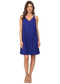 Adrianna Papell Chiffon Pleated Shift Dress