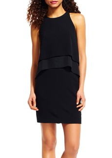 Adrianna Papell Chiffon Tier Popover Dress