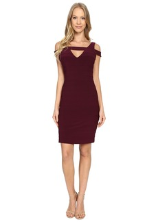 Adrianna Papell Cold Shoulder Banded Dress
