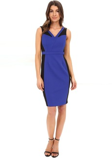Adrianna Papell Color Block Bodycon Sheath Dress