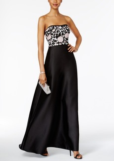 Adrianna Papell Convertible Strapless Gown