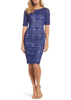 Adrianna Papell Corded Lace Dress (Regular & Petite)