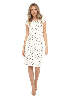 Adrianna Papell Cowl Neck Printed Sheath Dress