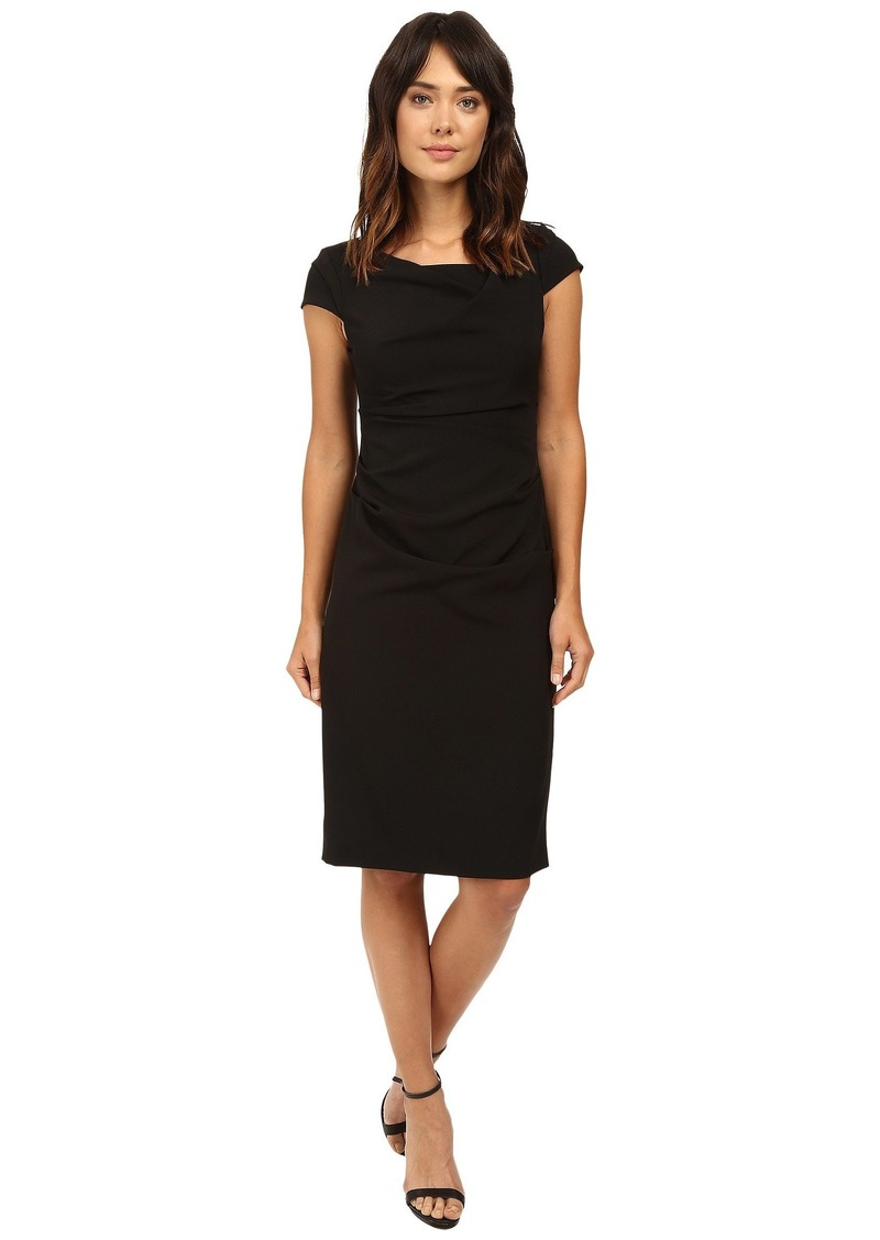 Adrianna Papell Cowl Side Rusched Sheath Dress