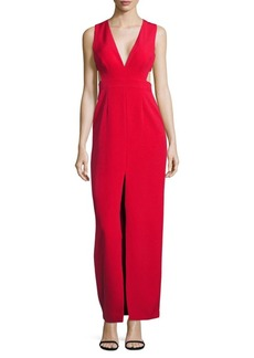 Adrianna Papell Crepe Column Gown