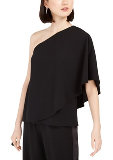 Adrianna Papell Crepe Draped Top