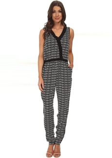 Adrianna Papell Cross-Over Jumpsuit w/ Solid