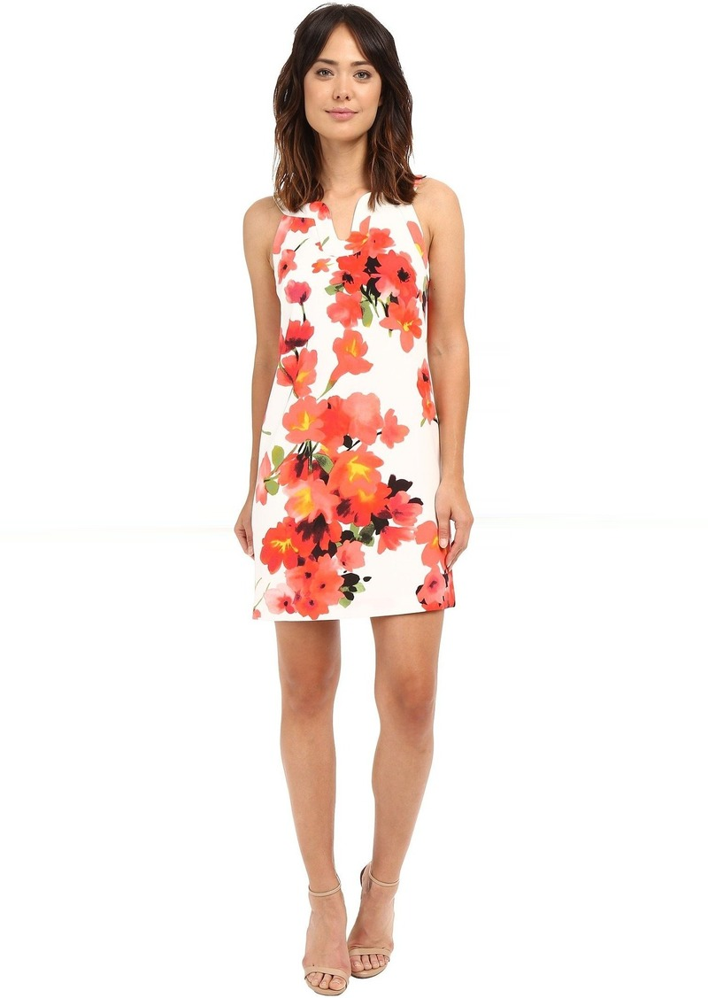 Adrianna Papell Cut Away Printed Floral Shift