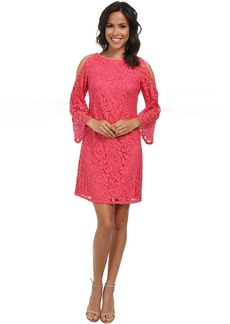 Adrianna Papell Cutout Sleeve Shift Lace