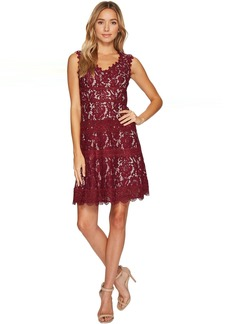 Adrianna Papell Cynthia Lace Fit and Flare Dress