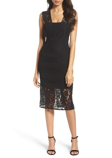 Adrianna Papell Cynthia Lace Sheath Dress