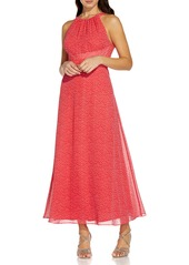 Adrianna Papell Darling Dot Sleeveless Chiffon Dress