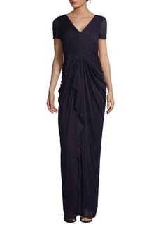 Adrianna Papell Drape Floor-Length Dress