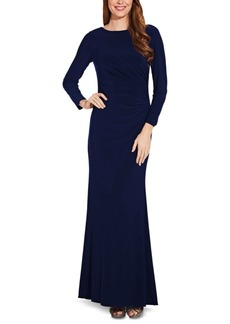 Adrianna Papell Draped & Beaded Jersey Gown