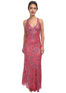 Adrianna Papell Dream Girls Bead Prom Gown