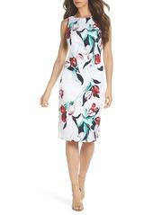 Adrianna Papell Dynasty Floral Print Stretch Sheath Dress