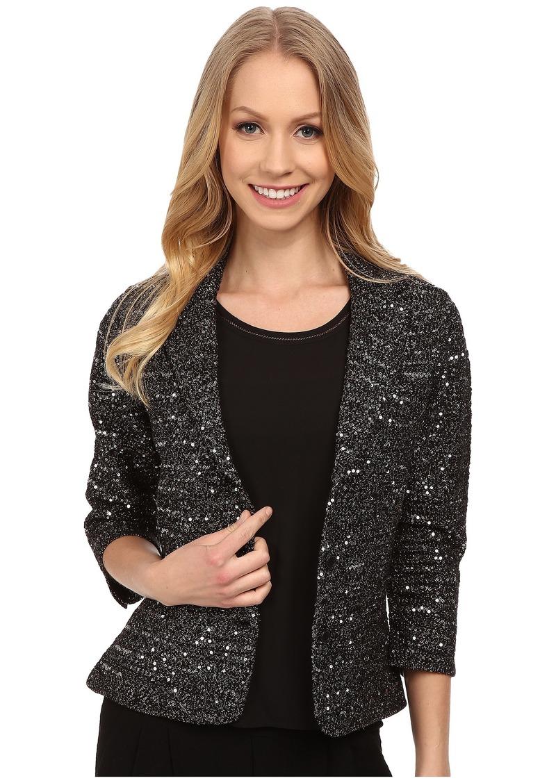 Adrianna Papell Elbow Sleeve Lurex Sequins Jacket