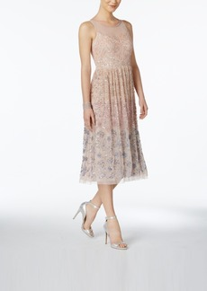 Adrianna Papell Embellished A-Line Dress
