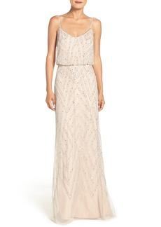 Adrianna Papell Embellished Blouson Gown