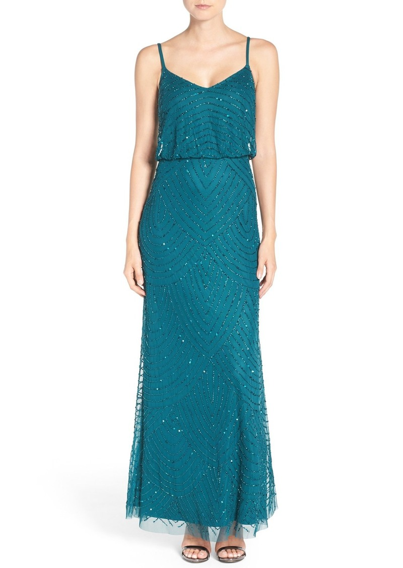 Adrianna Papell Adrianna Papell Embellished Blouson Gown (Regular ...