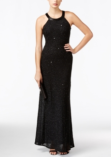 Adrianna Papell Petite Embellished Chiffon Evening Gown