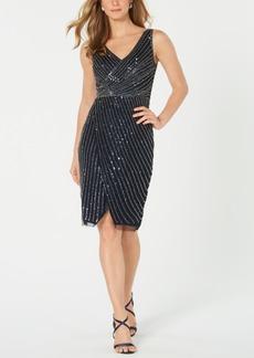 Adrianna Papell Embellished Cutaway Sheath Dress