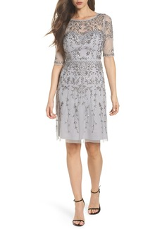 Adrianna Papell Embellished Fit & Flare Dress (Regular & Petite)