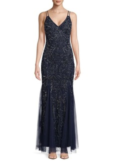 Adrianna Papell Embellished Floor-Length Gown
