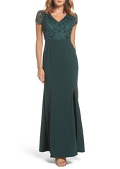 Adrianna Papell Embellished Jersey Gown