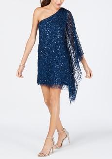 Adrianna Papell Embellished One-Shoulder Dress