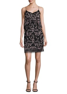 Adrianna Papell Embellished Popover Cocktail Dress