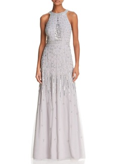 Adrianna Papell Embellished Tulle Gown - 100% Exclusive