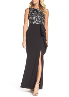 Adrianna Papell Embroidered Bodice Gown (Regular & Petite)