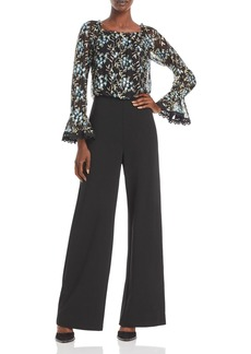 Adrianna Papell Embroidered Jumpsuit