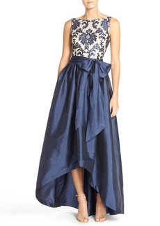 Adrianna Papell Embroidered Lace & Taffeta Ballgown