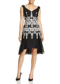 Adrianna Papell Embroidered Sleeveless Dress
