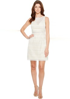 Adrianna Papell Eyelet Lace A-Line Skirt Dress