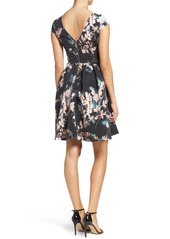 Adrianna Papell Faille Fit & Flare Dress