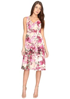 Adrianna Papell Faille Tea Length Fit and Flare