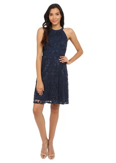 Adrianna Papell Filigree Lace Fit & Flare Dress