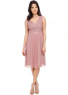 Adrianna Papell Fit and Flare Lace Combo Dress