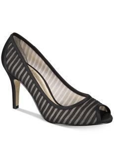 Adrianna Papell Flirt Peep-Toe Evening Pumps Women's Shoes