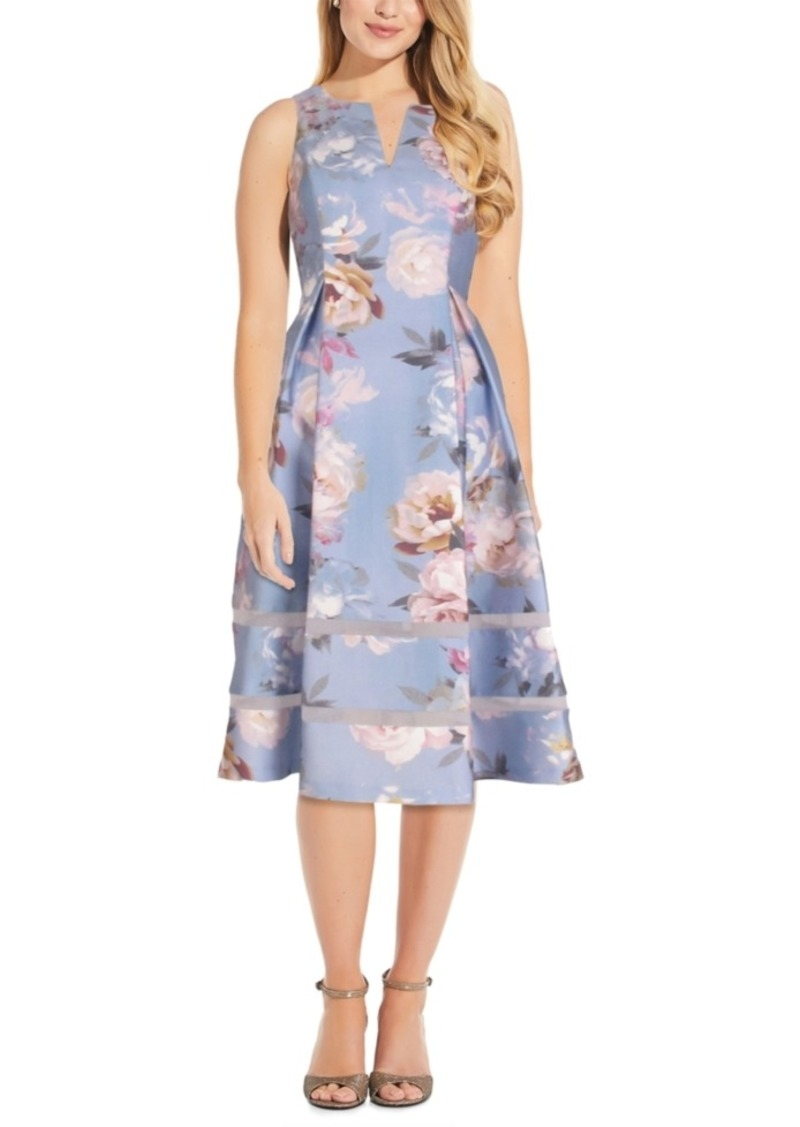 Adrianna Papell Floral A-Line Dress