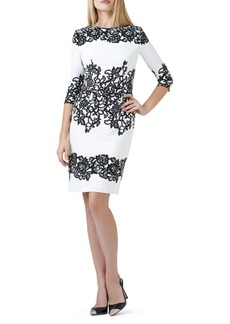Adrianna Papell Floral Accented Shift Dress