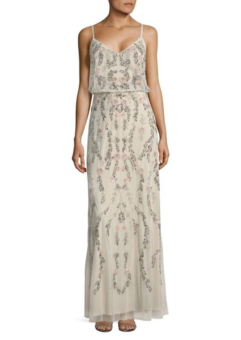 Adrianna Papell Adrianna Papell Floral Embellished Blouson Gown