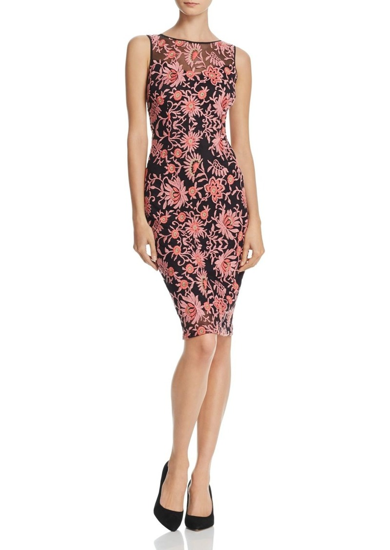 6ab0e2211e42 SALE! Adrianna Papell Adrianna Papell Floral Embroidered Sheath Dress